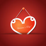 Valentines Day heart hanged Stock Images