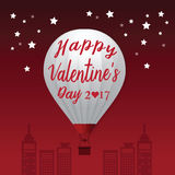 Valentines Day 2017 Heart Hot Air Balloons . Stock Photos