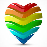 Valentines day heart icon Royalty Free Stock Photo