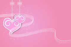 Valentines Day and Heart illustration background Royalty Free Stock Photos