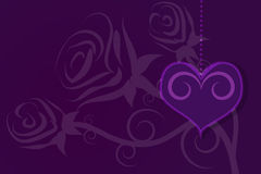 Valentines Day and Heart illustration background Stock Photography