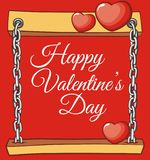 Board valentine for love greeting card Royalty Free Stock Images