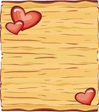Board valentine for love greeting card Stock Photo