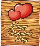 Board valentine for love greeting card Stock Image