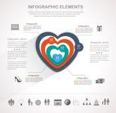 Valentines day heart infographics Stock Photos