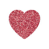 Valentines Day heart isolated,  background. Valentines Day heart isolated Festive decorations bright glitter placer. Holiday love decor illustration. Beautiful Stock Photos