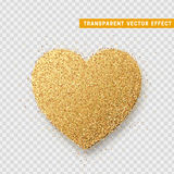 Valentines Day heart isolated, transparent vector effect background. Stock Photo