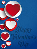 Valentines Day Heart Jeans Background Royalty Free Stock Images