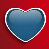 Valentines Day Heart in Jeans Texture Royalty Free Stock Images