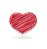 Valentines day heart of love Royalty Free Stock Photos