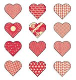 Valentines Day Heart for Loving Couple Vector Illustration royalty free illustration