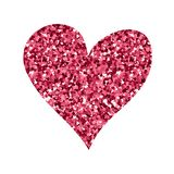 Valentines day heart made for postcard and greeting sign love decoration. Stock Photo