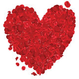 Valentines Day Heart Made of Red Roses Isolated on White - Illustration, Vector Stock Photos