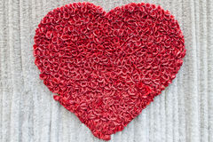 Valentines Day ,Heart Made of Red Roses Stock Images