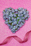 Valentines Day Heart Made of Small Flowers Royalty Free Stock Photography
