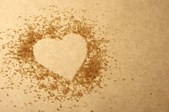 Valentines Day, heart made of sugar Royalty Free Stock Images