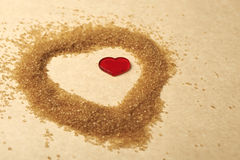 Valentines Day, heart made of sugar Royalty Free Stock Photo