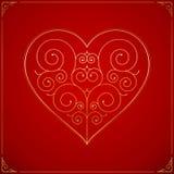Valentines Day heart. Ornate love symbol Stock Photos