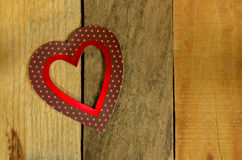 Valentines day heart on pallet wood background Stock Photo