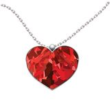 Valentines Day heart pendant isolated on white background.  Stock Photos
