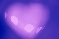 Valentines Day heart - purple background Stock Image