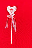 Valentines  Day Heart on Red Background with copy space. Valenti Royalty Free Stock Images