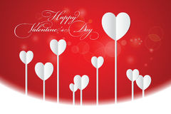 Valentines Day Heart on Red Background. Royalty Free Stock Image