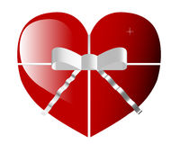 Valentines day heart with ribbon Stock Image
