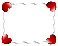 Valentines day heart and ribbons Stock Photos