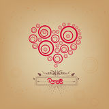 Valentines day with heart romantic Royalty Free Stock Photography