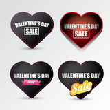Valentines day heart sale label icon set Stock Photography