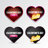 Valentines day heart sale label icon set Royalty Free Stock Photography