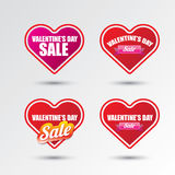 Valentines day heart sale label icon set Stock Images
