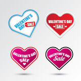 Valentines day heart sale label icon set Stock Photo