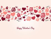 Valentines day heart seamless background Royalty Free Stock Photos
