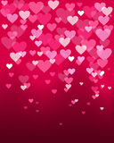 Valentines day heart shape bokeh light love card Stock Photos