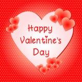 Valentines day in heart shape slim font stock illustration