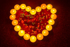 Valentines day heart shaped candle Royalty Free Stock Photos