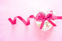 Valentines Day and Heart shaped gift box.holiday background Stock Image