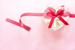 Valentines Day and Heart shaped gift box.holiday background. Royalty Free Stock Photo