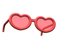 Valentines day heart shaped glasses, 3d Stock Photography