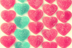 Valentines Day heart shaped jelly candies Royalty Free Stock Images