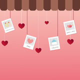 Valentines day heart tag Stock Photo
