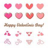 Valentines Day heart vector icon set Royalty Free Stock Photography