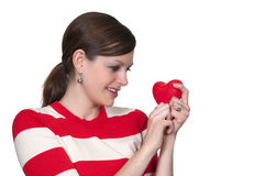 Valentines Day Heart Woman Royalty Free Stock Photography