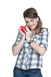 Valentines Day Heart Woman Stock Photography