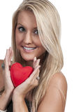 Valentines Day Heart Woman Royalty Free Stock Photos