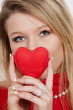 Valentines Day Heart Woman Royalty Free Stock Photo
