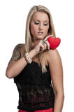 Valentines Day Heart Woman Royalty Free Stock Images