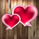 Valentines Day with heart on wood. EPS 10 Stock Photography